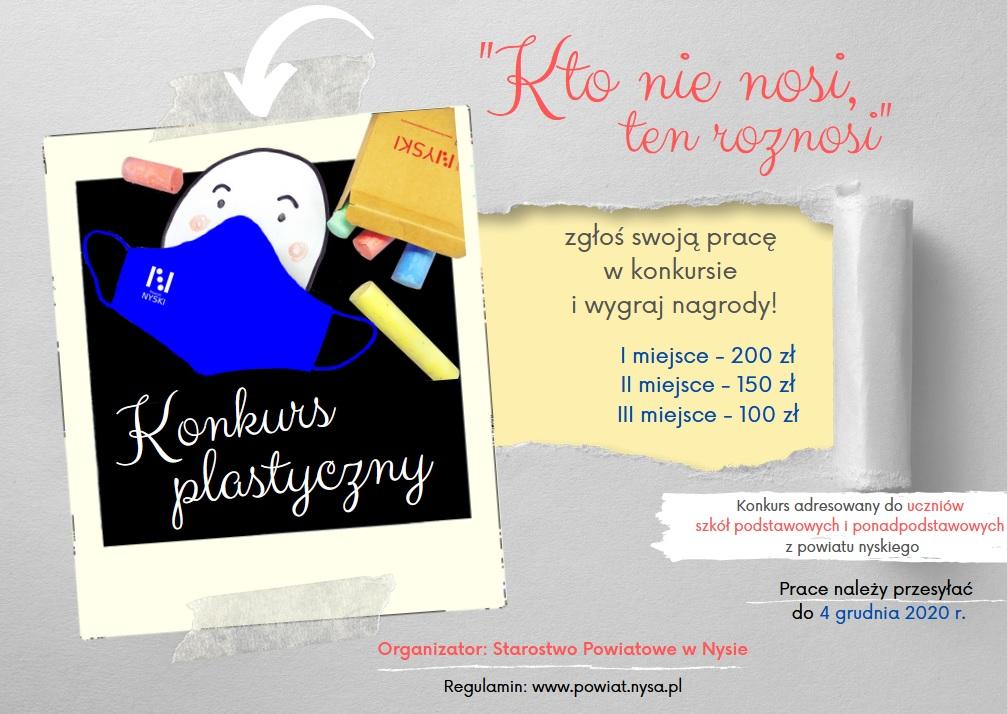 Plakat promujący konkurs plastyczny