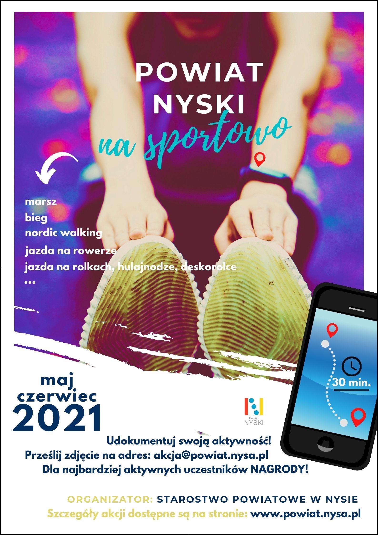 Plakat Powiat Nyski na sportowo