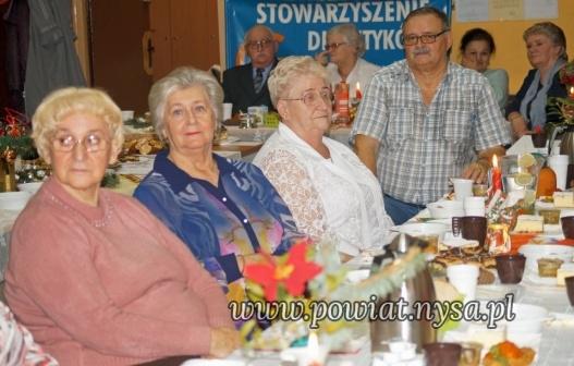IStarosta na wigilijnym spotkaniu u diabetyków