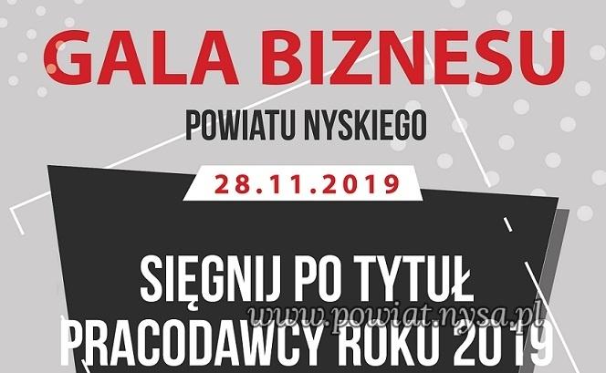 """IGala Biznesu """"Pracodawca Roku 2019 Powiatu Nyskiego"""" 28 X"""
