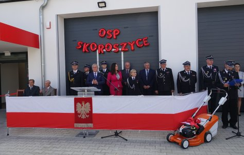Otwarcie remizy stra|ackiej w Skoroszycach