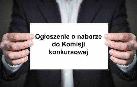 Nabór kandydatów na czBonków komisji konkursowej